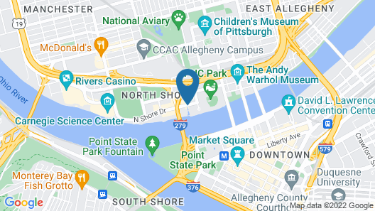 Hyatt Place Pittsburgh-North Shore Map