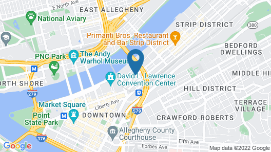 Homewood Suites by Hilton Pittsburgh Downtown Map