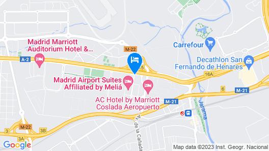 Crowne Plaza Madrid Airport Map