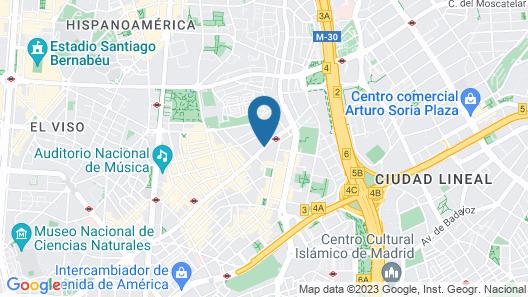 Hotel ILUNION Suites Madrid Map