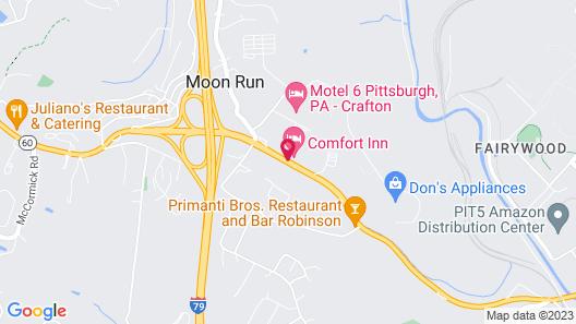 Comfort Inn Pittsburgh Map
