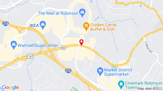 Red Roof Inn PLUS+ Pittsburgh South - Airport Map