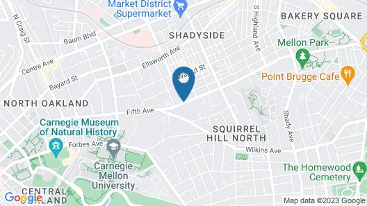 Shadyside Inn All Suites Hotel Map