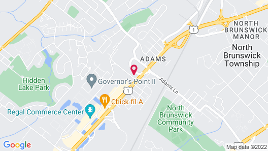 Holiday Inn Express and Suites North Brunswick, an IHG Hotel Map