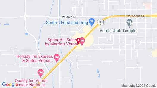 SpringHill Suites by Marriott Vernal Map