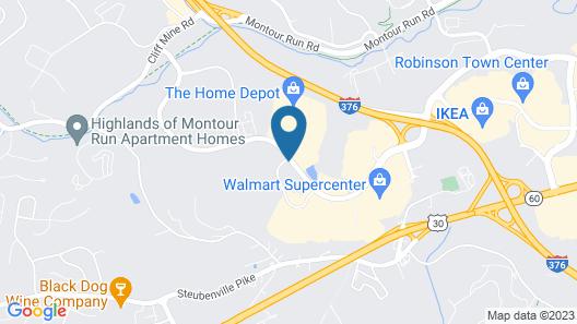 Sonesta Simply Suites Pittsburgh Airport Map
