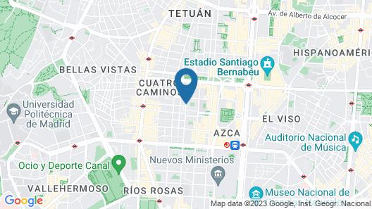 NYX Hotel Madrid by Leonardo Hotels Map