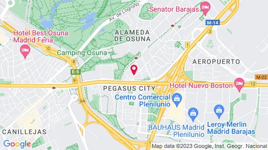 NH Madrid Barajas Airport Map