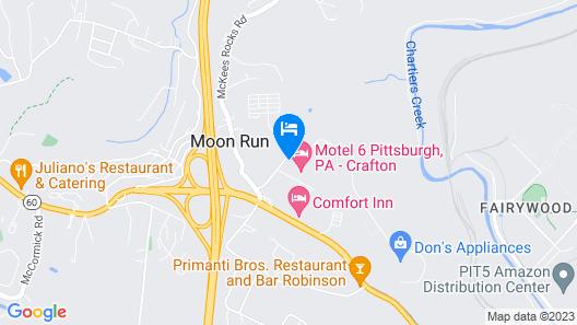 Motel 6 Pittsburgh, PA - Crafton Map