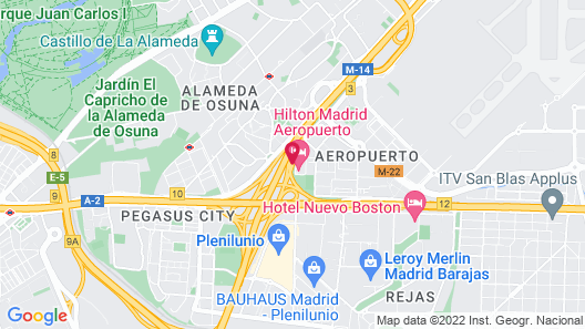 Hilton Madrid Airport Map