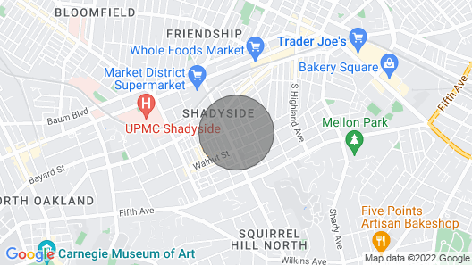 ? Cozy Shadyside Suite Pitt/cmu ? Pet Friendly Map
