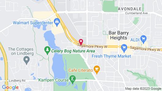 Prestige Inn West Lafayette Map