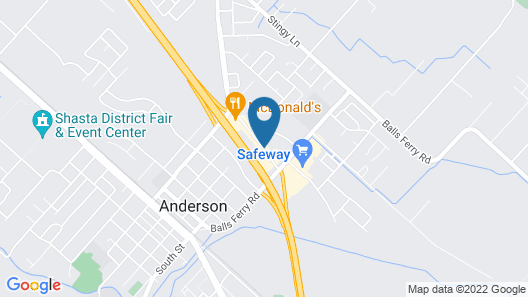 Motel 6 Anderson, CA - Redding Airport Map