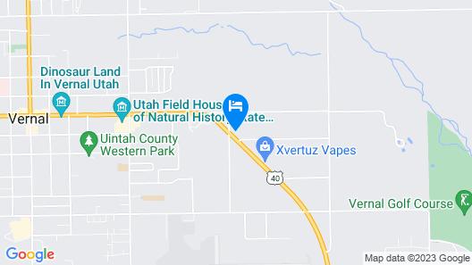 Split Mountain Motel Map