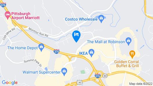 TownePlace Suites Pittsburgh Airport/Robinson Township Map