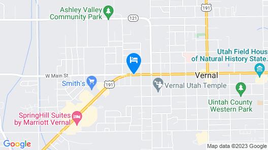 Ledgestone Hotel Vernal Map