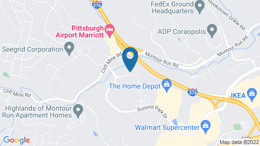 Residence Inn by Marriott Pittsburgh Airport Map