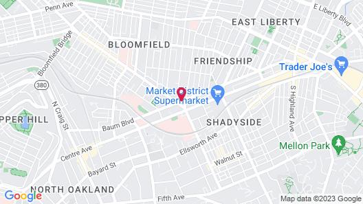 Hyatt House Pittsburgh/Bloomfield/Shadyside Map