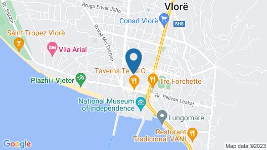Valona Ferienhaus. vlore  Map