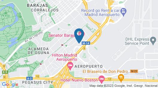 Sercotel Madrid Aeropuerto Map