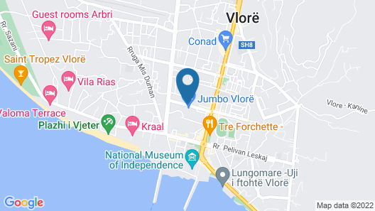 Hotel Palace Vlore Map