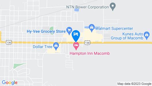 Hampton Inn Macomb Map