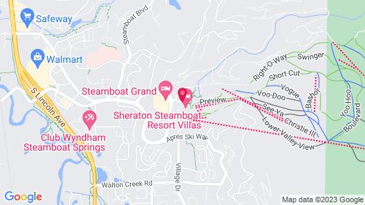 Sheraton Steamboat Resort Villas Map