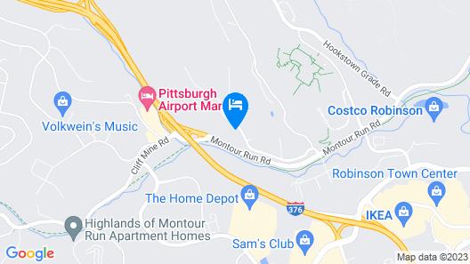 Motel 6 Coraopolis, PA- Pittsburgh Airport Map
