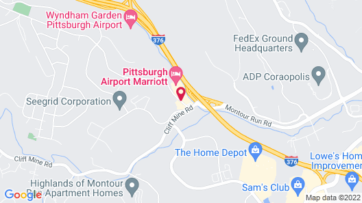 Pittsburgh Airport Marriott Map