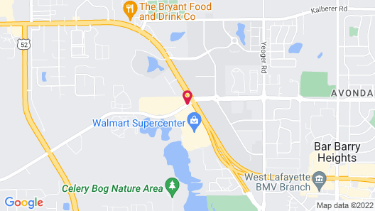 Four Points by Sheraton West Lafayette Map