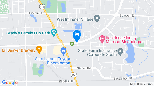 DoubleTree by Hilton Hotel Bloomington Map