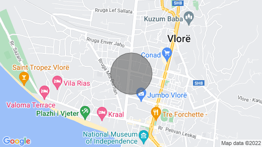Vlore City Center Wohnung Map