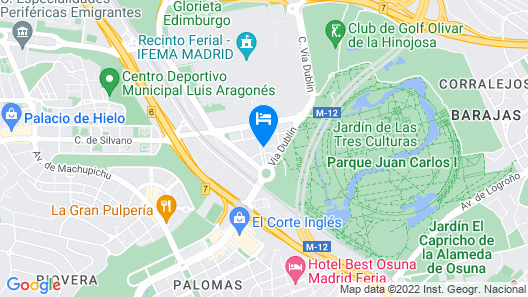Hotel Pullman Madrid Airport & Feria Map