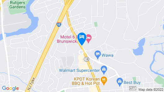 Motel 6 East Brunswick, NJ Map