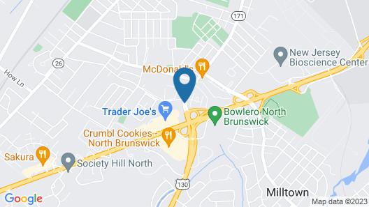 Hampton Inn North Brunswick / New Brunswick Map