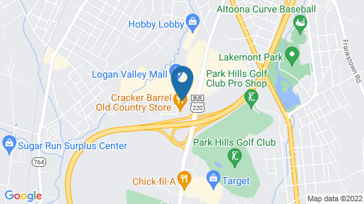 Hampton Inn Altoona Map