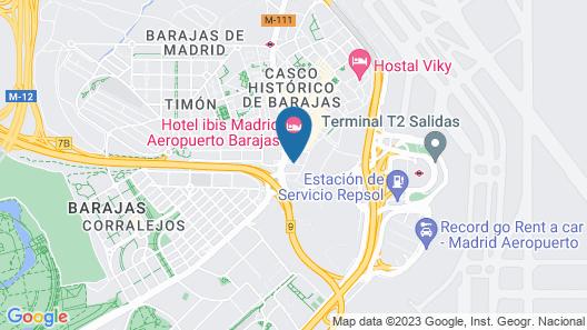 TRYP Madrid Alameda Aeropuerto Hotel Map