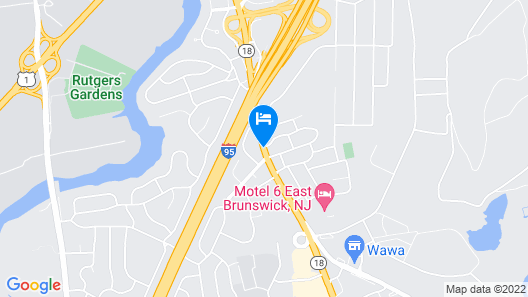 Days Hotel & Conference Center by Wyndham East Brunswick Map