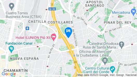 Hotel Nuevo Madrid Map