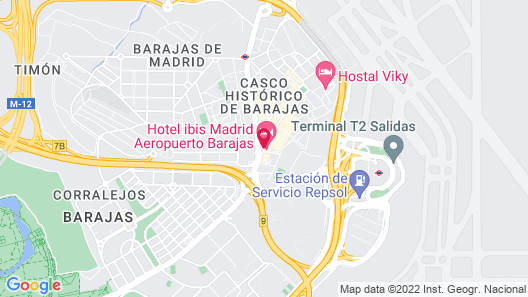 Hotel ibis Madrid Aeropuerto Barajas Map