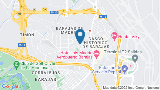 Hotel Tach Madrid Airport Map