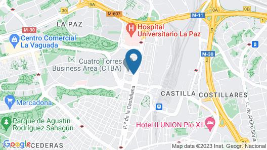 Eurostars Madrid Tower Map