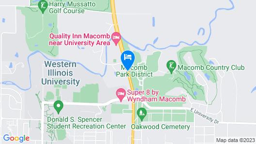 Macomb Inn Map