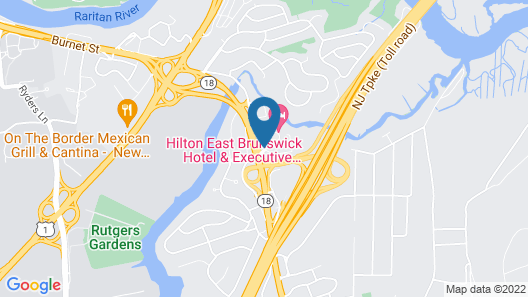 Hilton East Brunswick Hotel & Executive Meeting Center Map