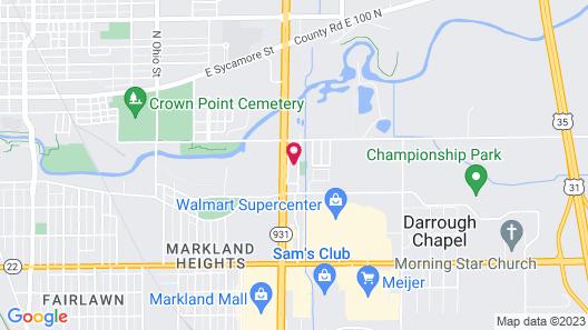 Comfort Inn Near Kokomo Speedway Map
