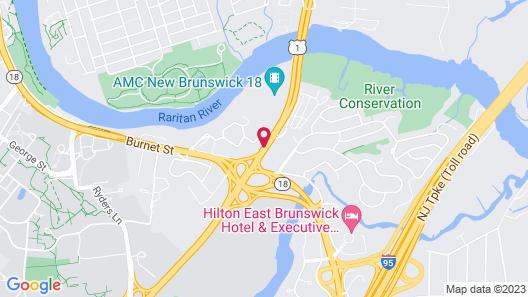 Motel 6 New Brunswick Map