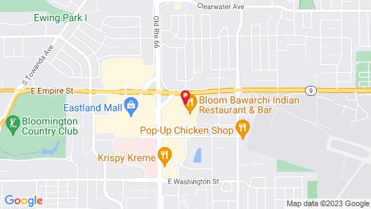 Quality Inn & Suites Bloomington University Area Map