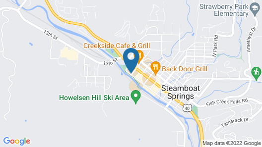 Downtown Gem 2br/2.5ba Overlooking The Yampa River 2 Bedroom Condo Map