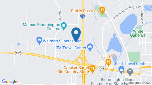 Ramada Limited Bloomington Map