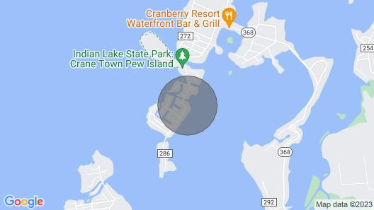 Lakefront Home, Techumseh Island - Sleeps 6, 2br, 2bath, Boat Dock Map